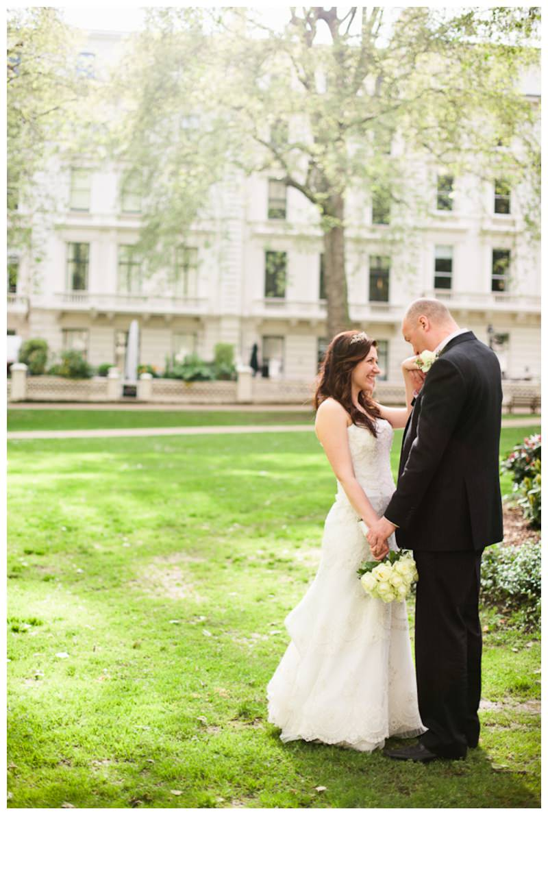 Wedding photograph taken in Notting Hill and Kensington