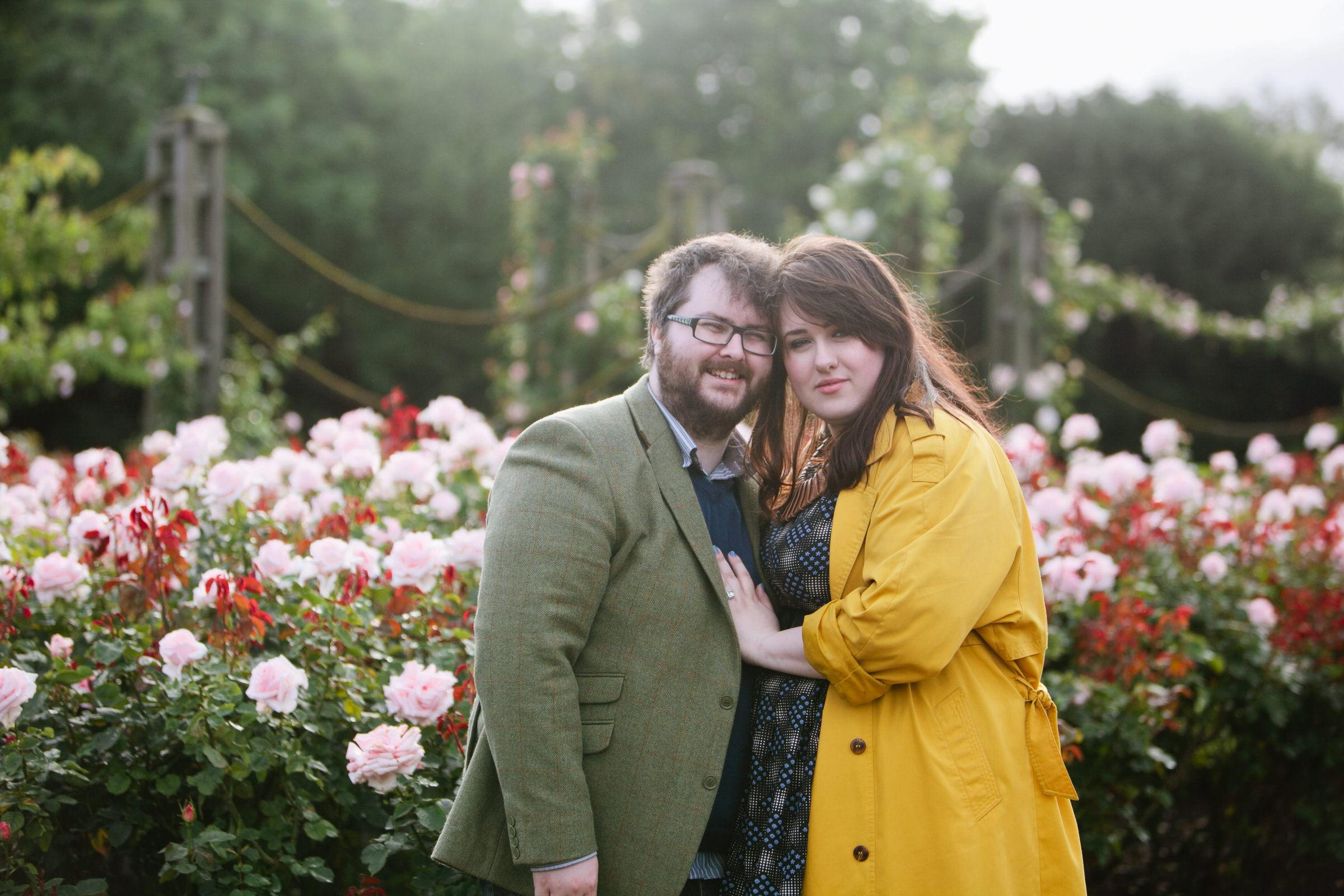 Engagement photos taken in Regents Park, London