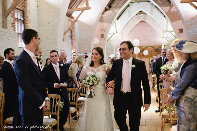 Wedding at Tithe Barn in Hampshire
