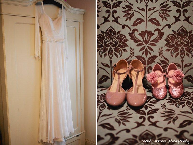 italian wedding dress and shoes