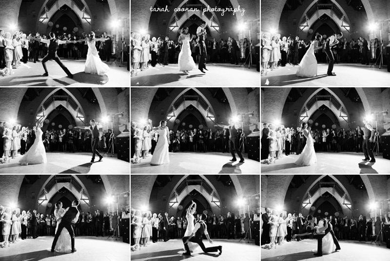 first dance at tithe barn hampshire wedding