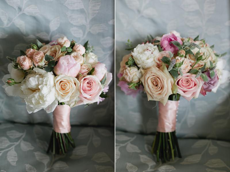 emma lappin wedding bouquet peonies roses sage