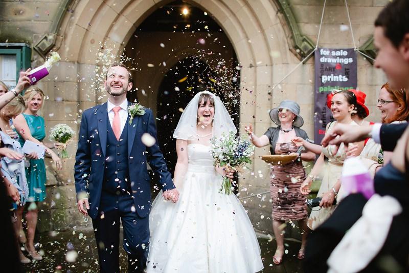 rose petal confetti wedding