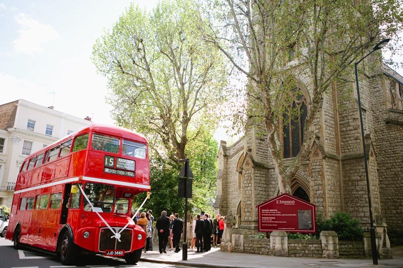 red bus routemaster wedding london
