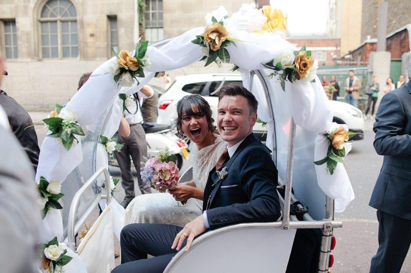london wedding rickshaw