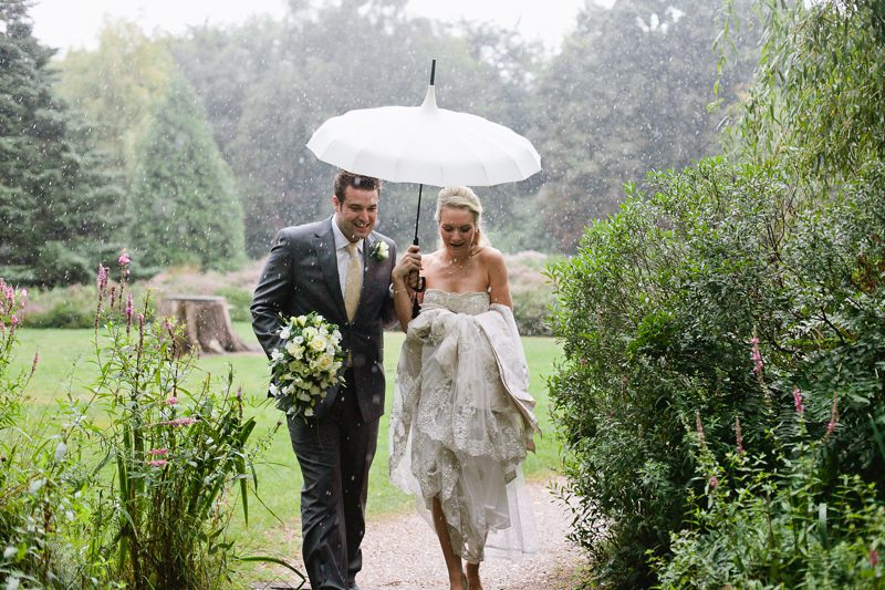 rainy wedding day london