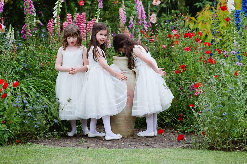 wedding flower girls garden