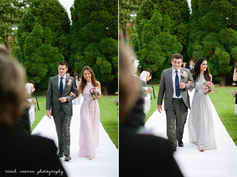 bridesmaid outdoor ceremony