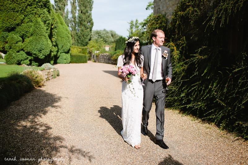 notley abbey bride and groom