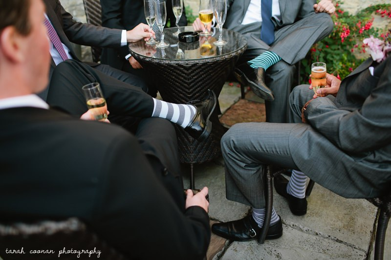 stripey socks groomsmen