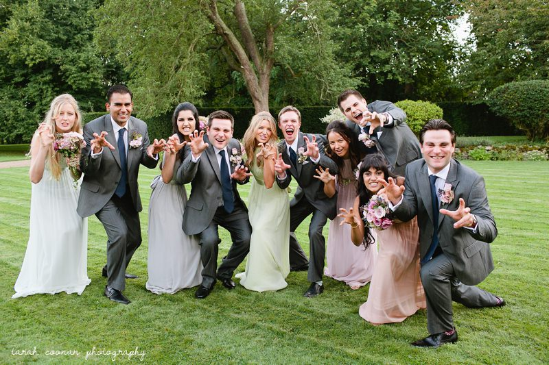 funny wedding pose