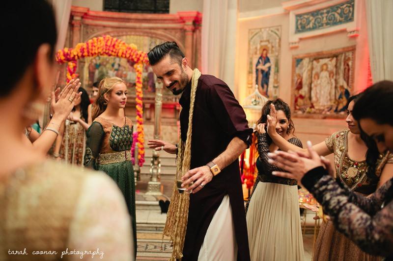 brother dancing at mendhi london