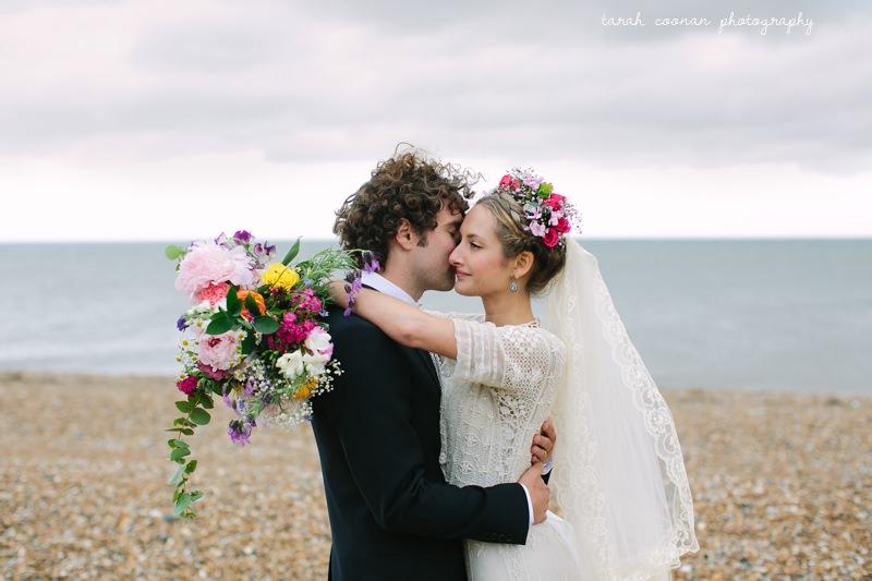 moody beach wedding