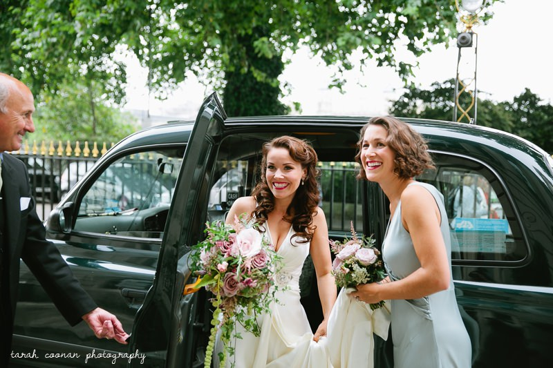 black taxi london wedding
