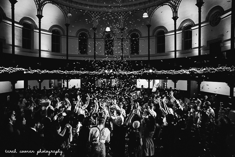confetti canon first dance london