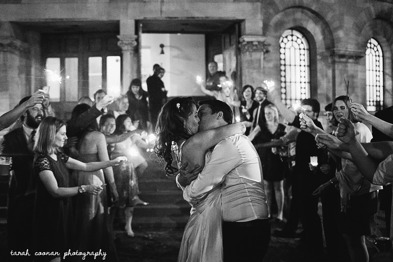 wedding sparkler kiss
