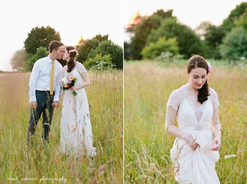 beautiful bride field