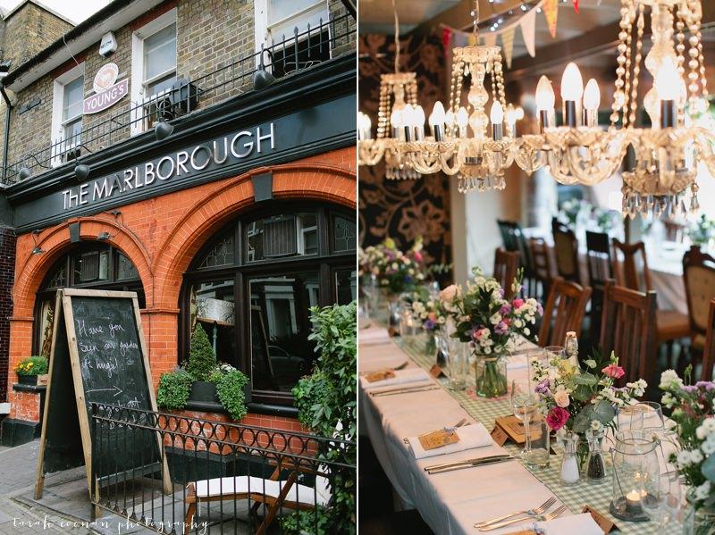 the marlborough pub wedding