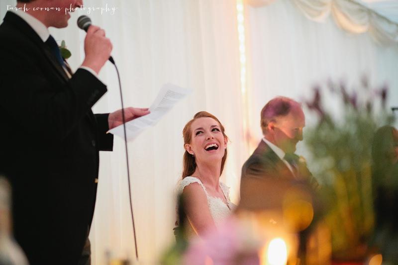 marquee candlelit wedding