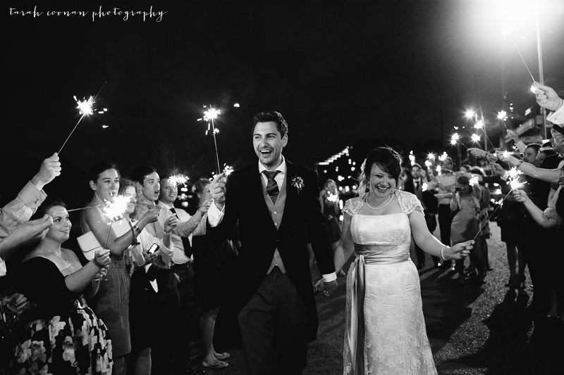 sparklers london wedding