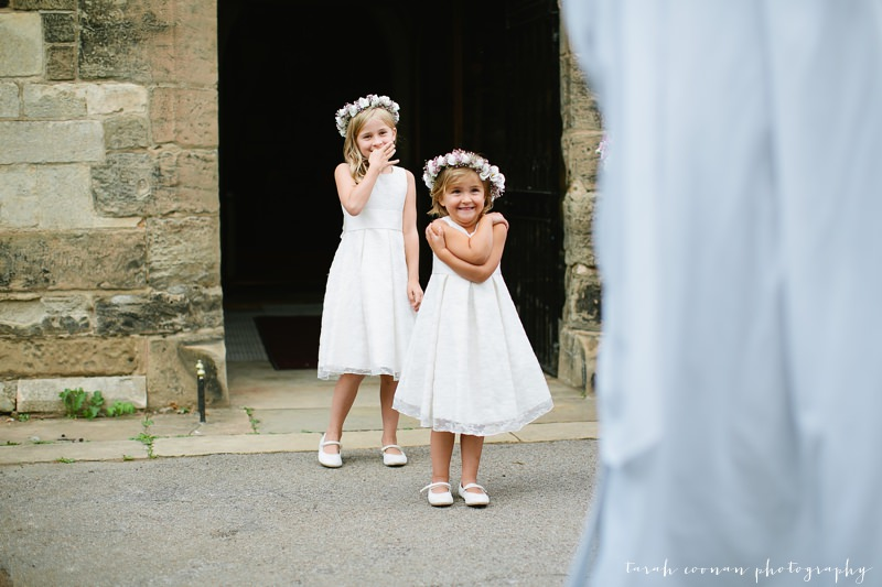 excited flower girls