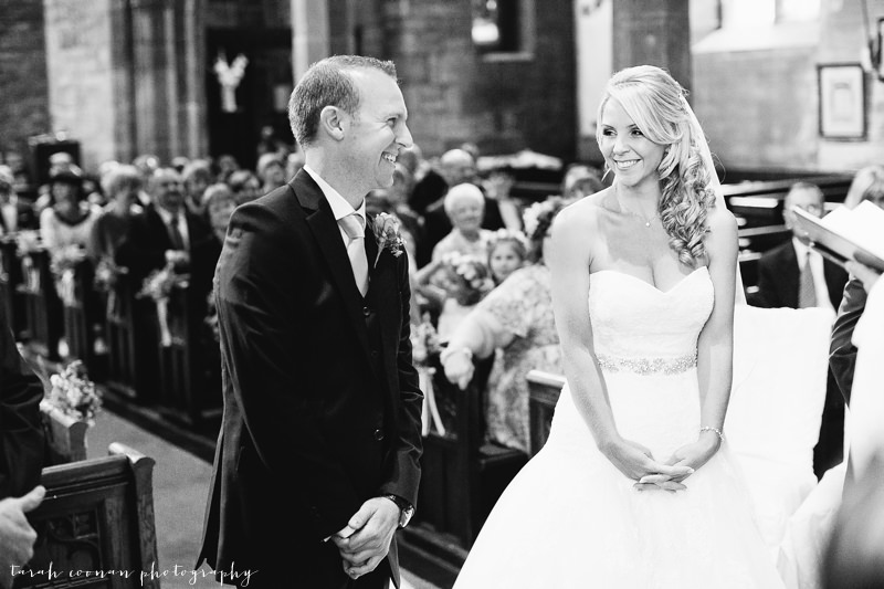 laughing wedding ceremony