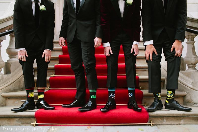 super hero wedding socks