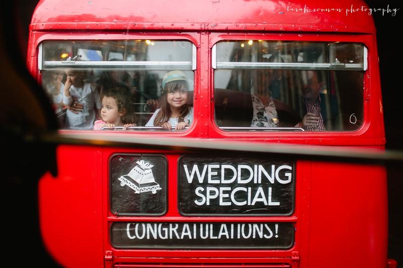 red bus london wedding
