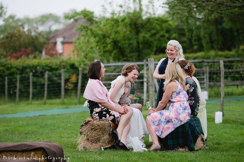 hay bale wedding sussex