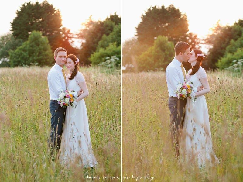 wedding portrait field
