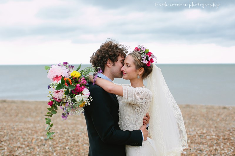 vintage beach wedding flower crown
