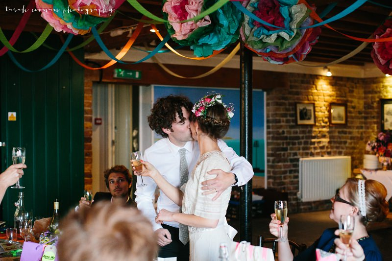 wedding speech kiss