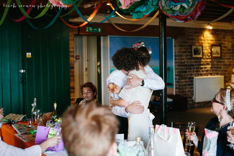 wedding speech hug