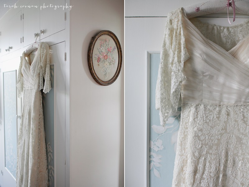 antique lace wedding dress