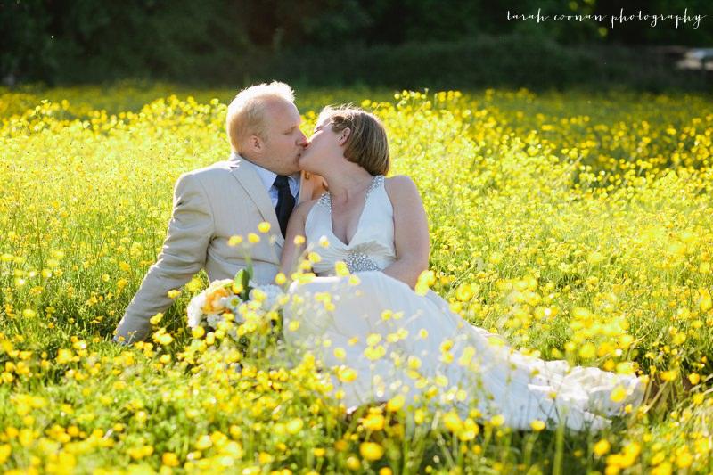 buttercup field wedding