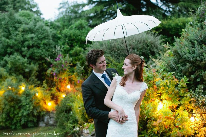 happy wedding rain