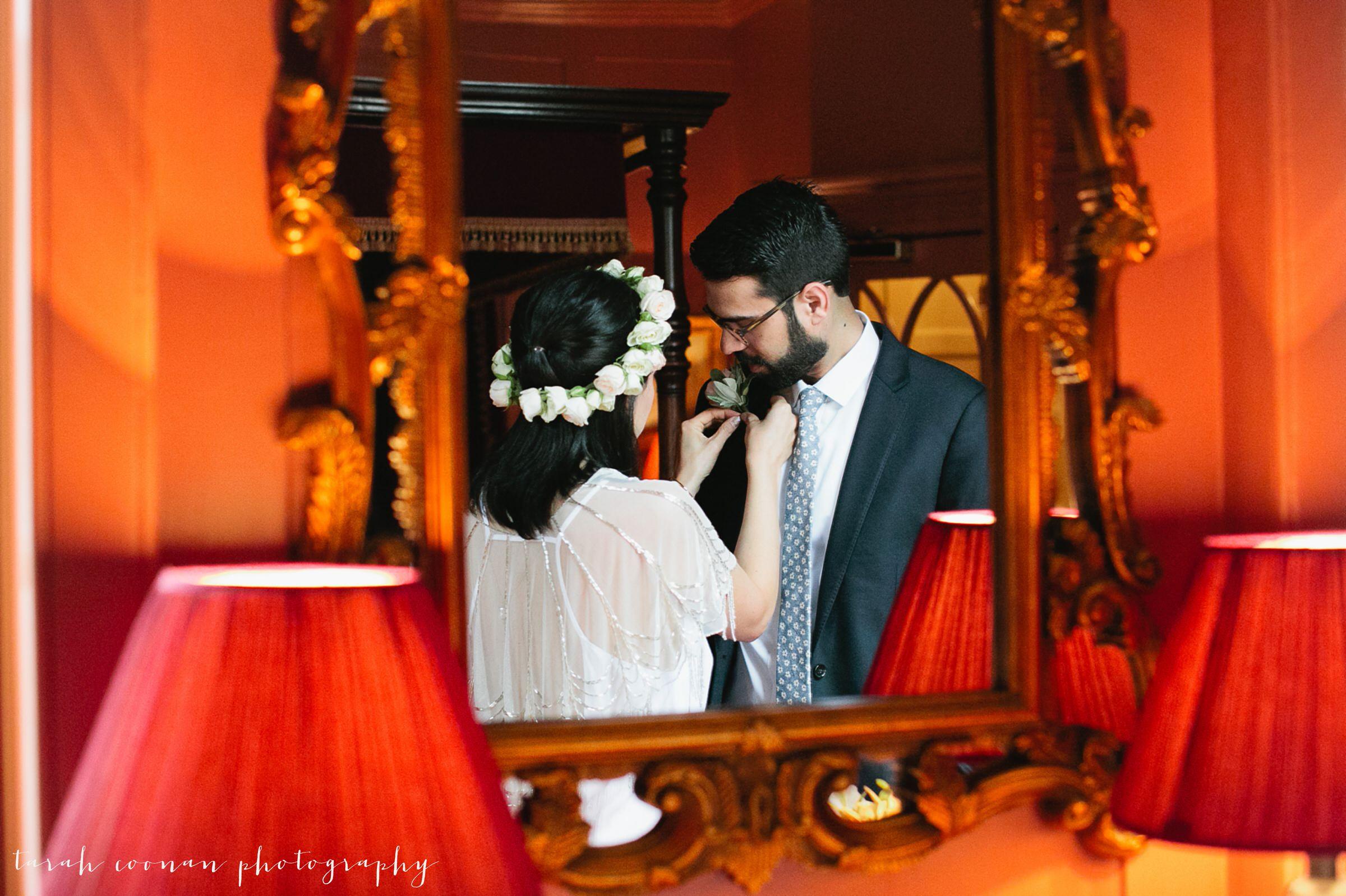 bride hair wreath