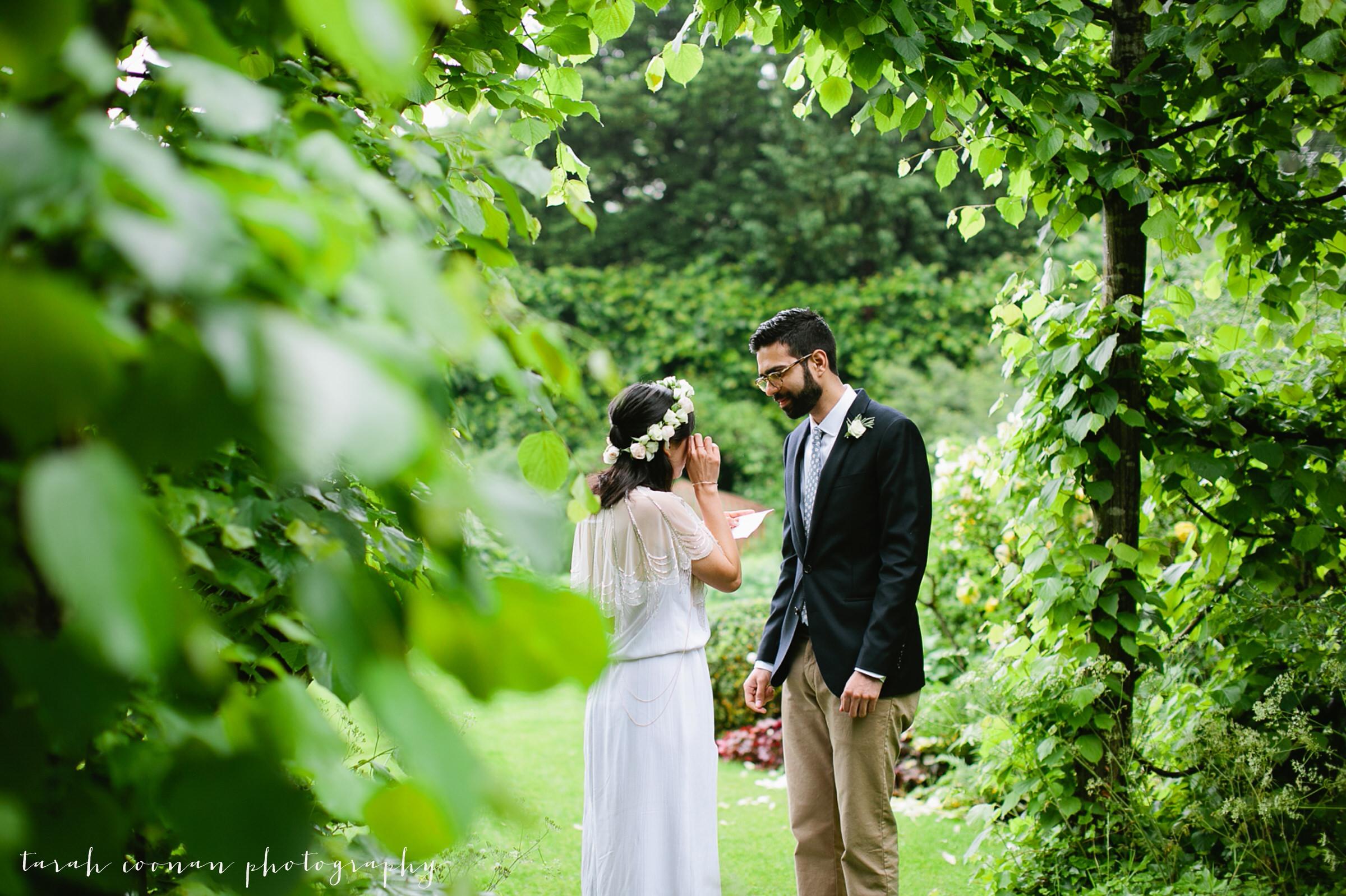 tearful wedding ceremony