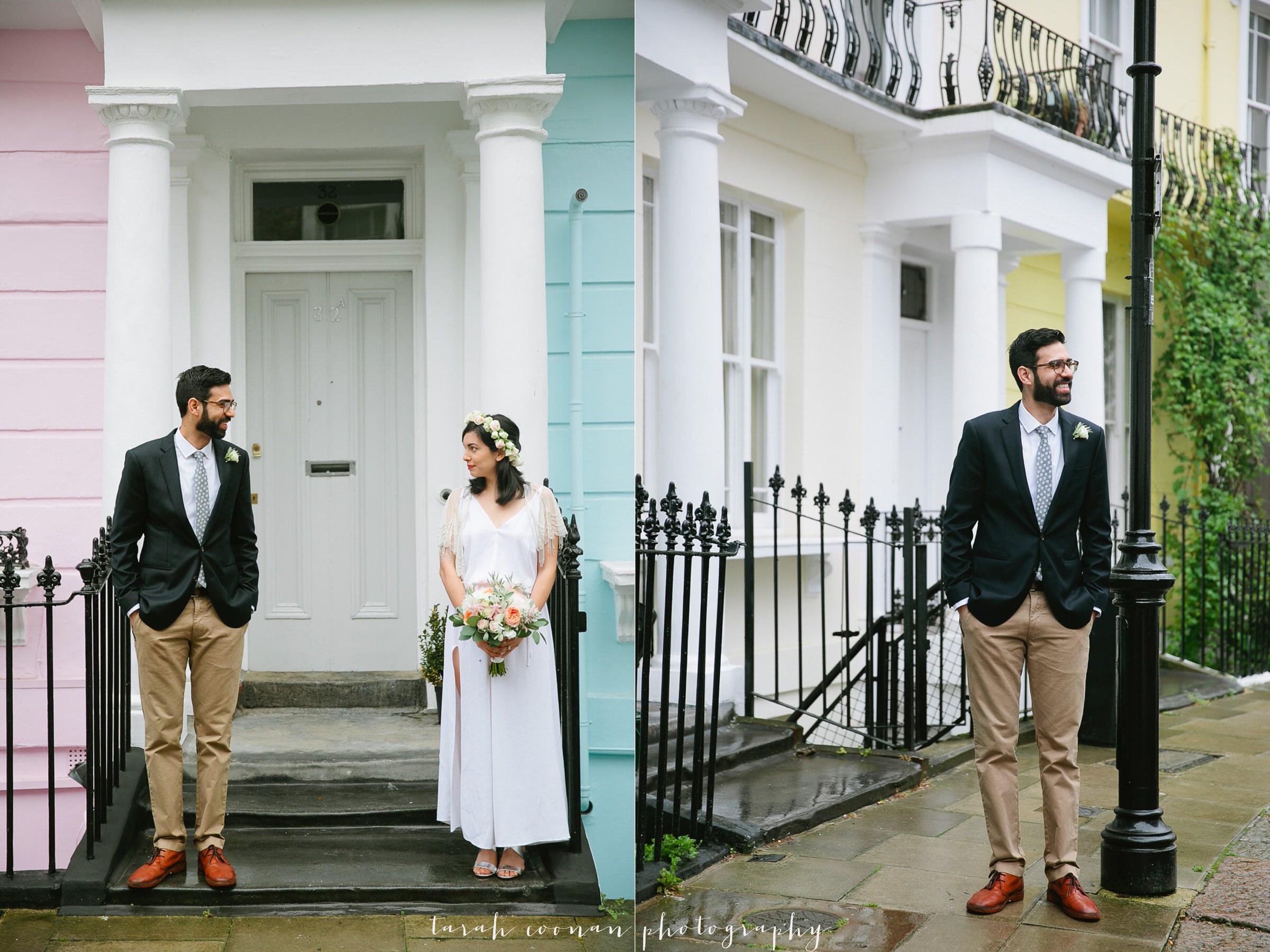 pink blue wedding