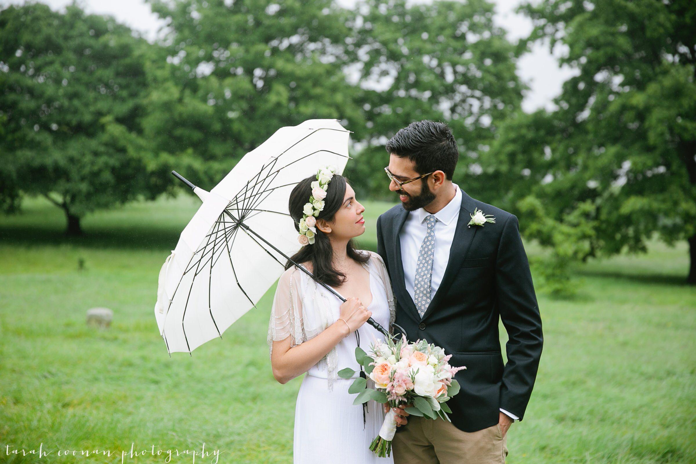 rainy wedding umbrella