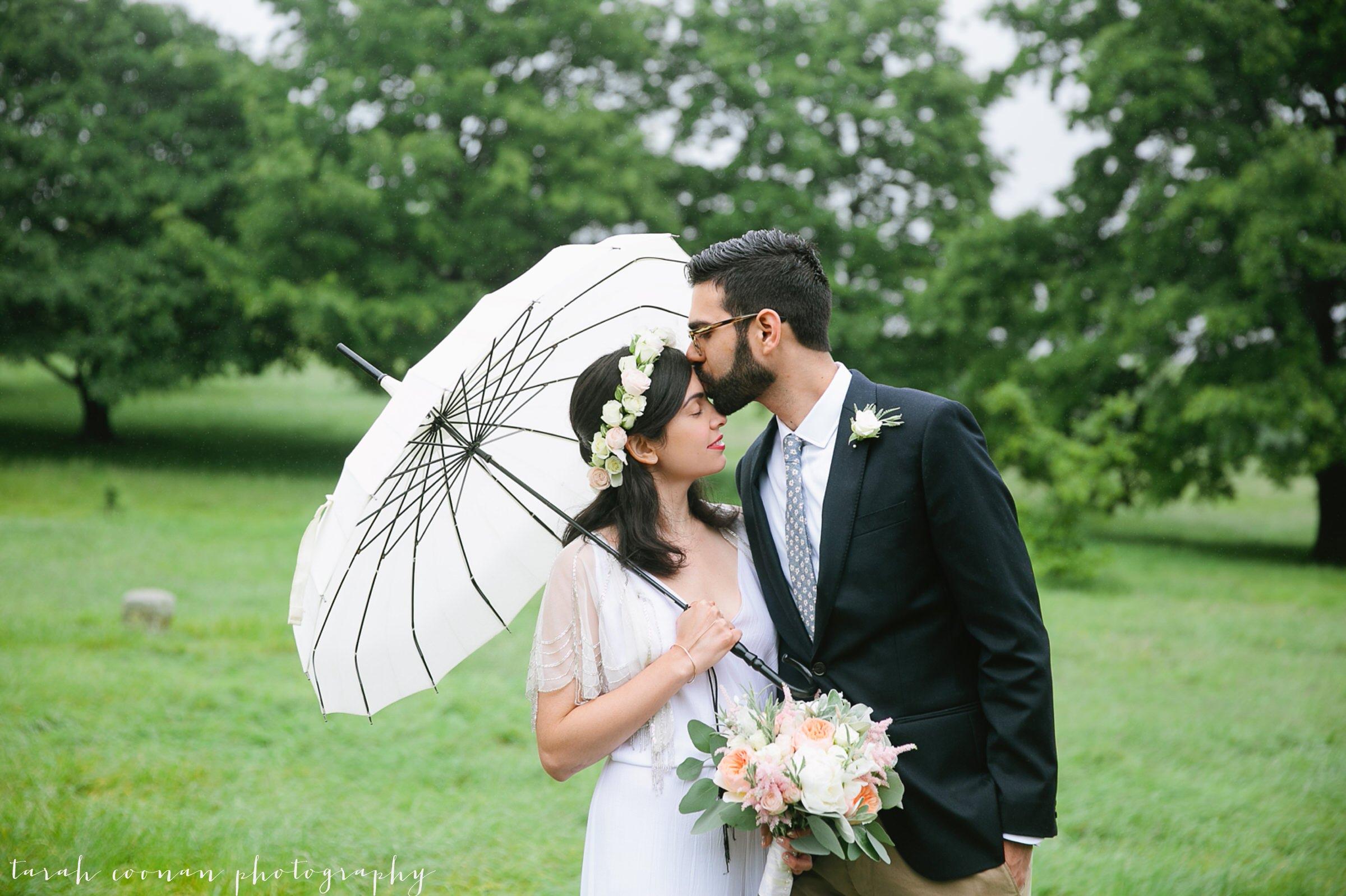 rainy wedding umbrellas