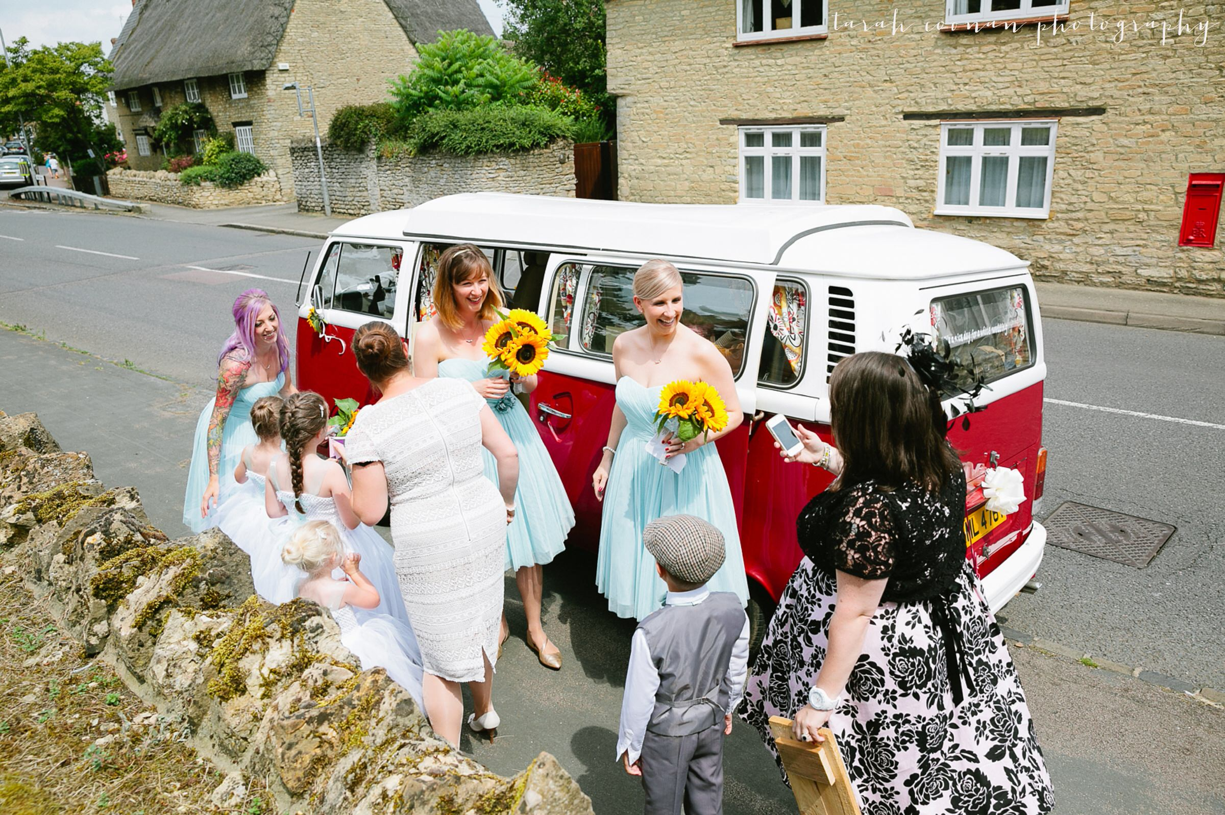 VW camper van wedding