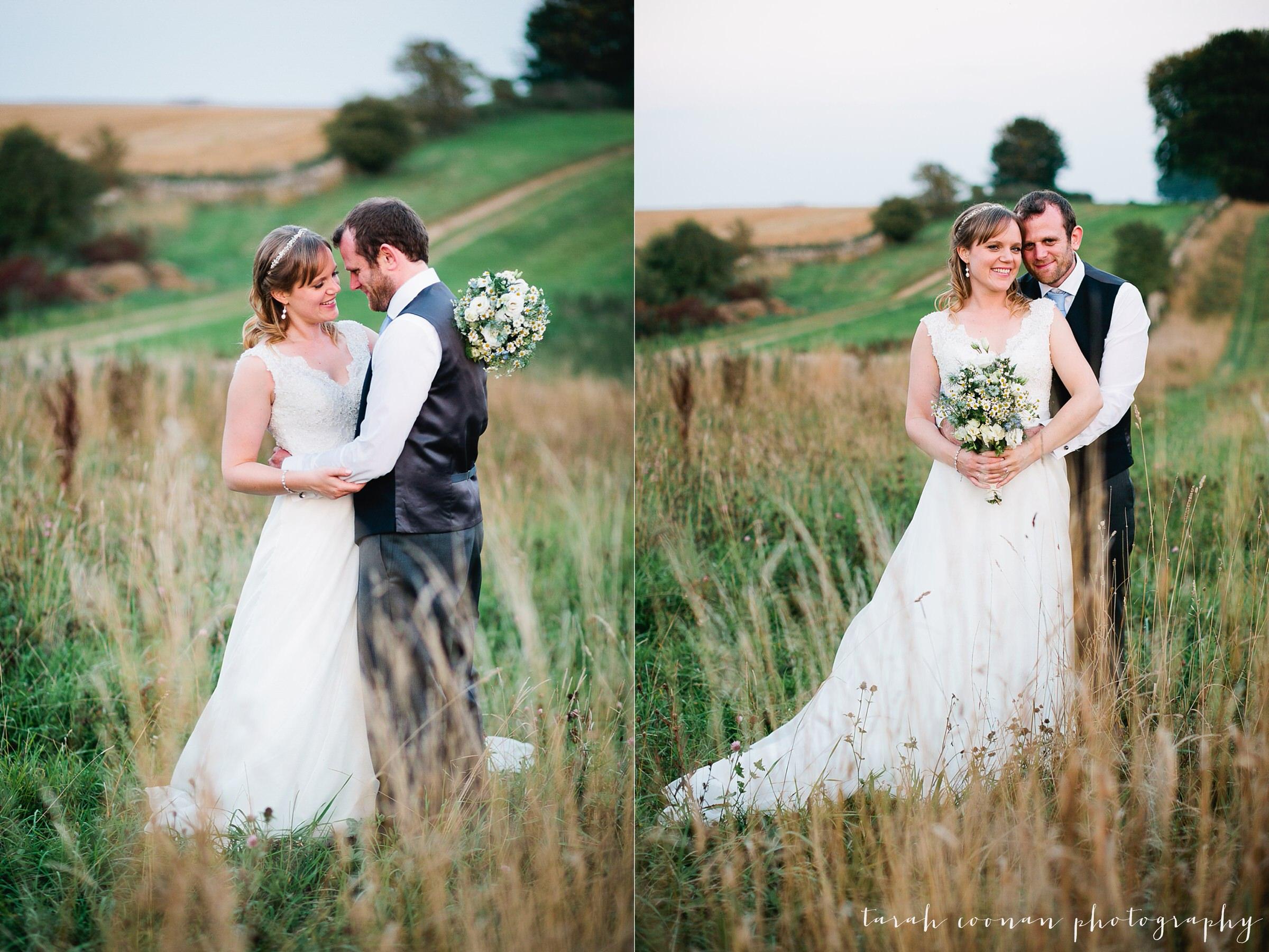 sunset wedding field