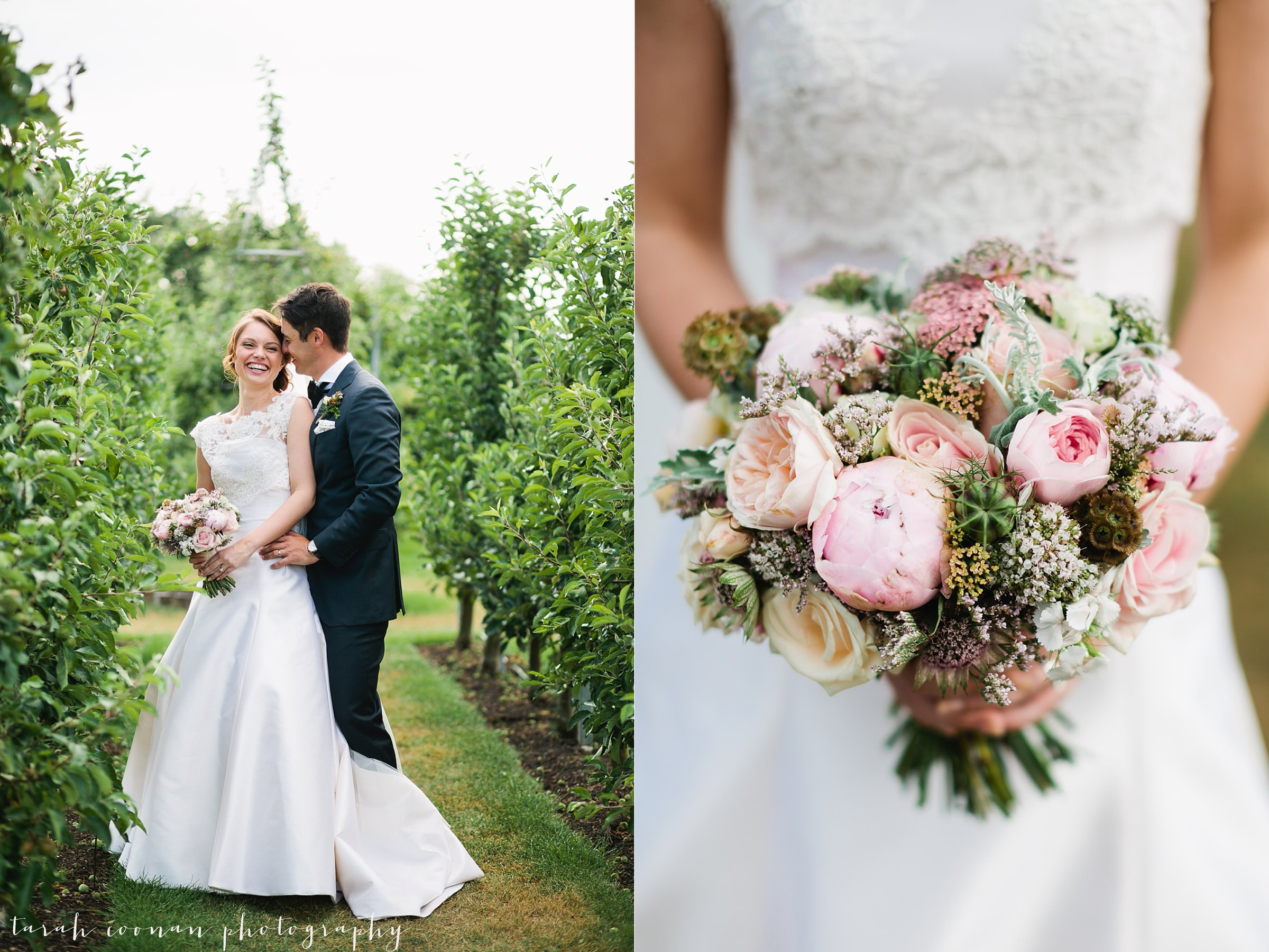 natural rose and peony bouquet