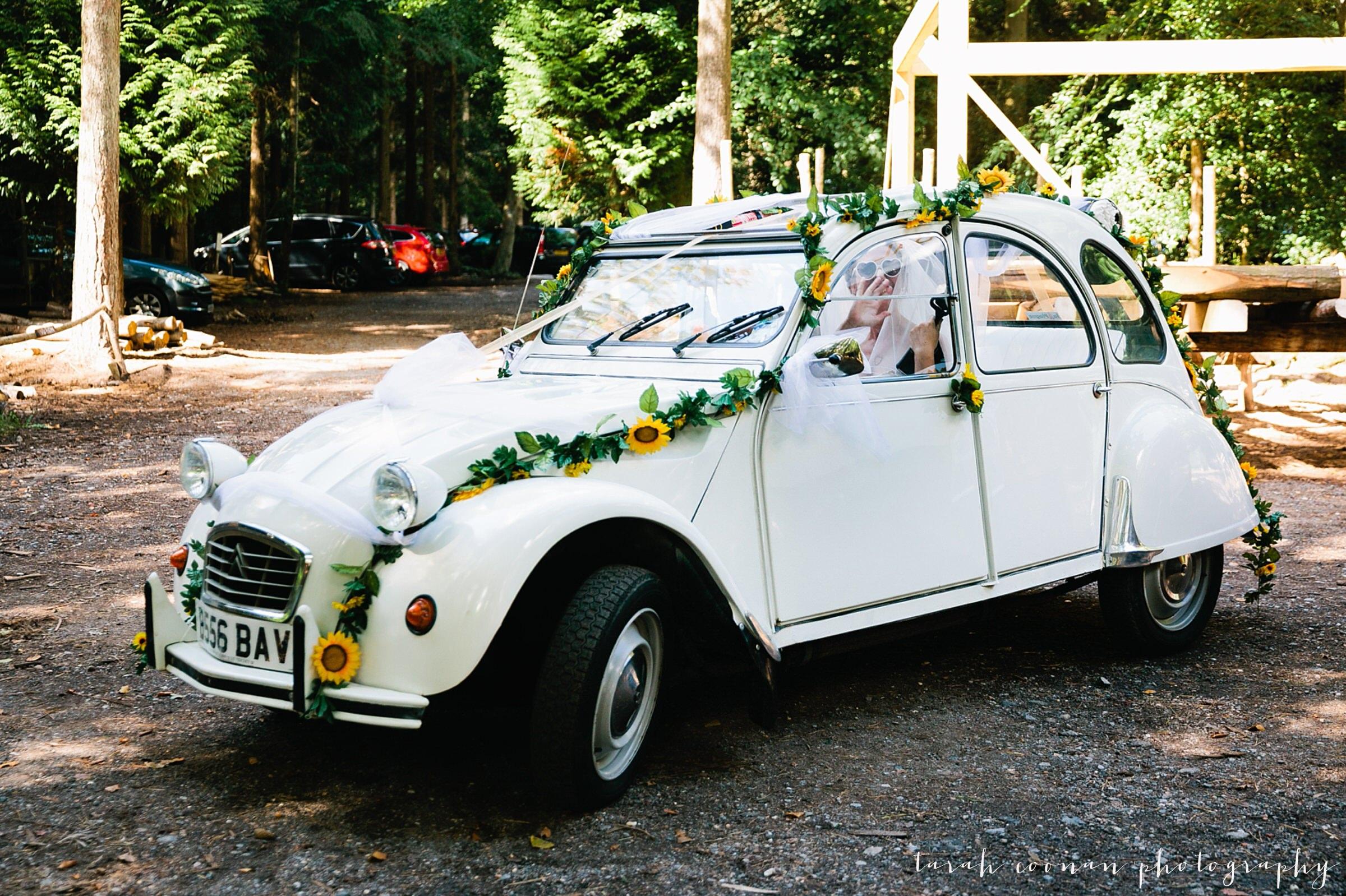 citroen 2cv wedding car