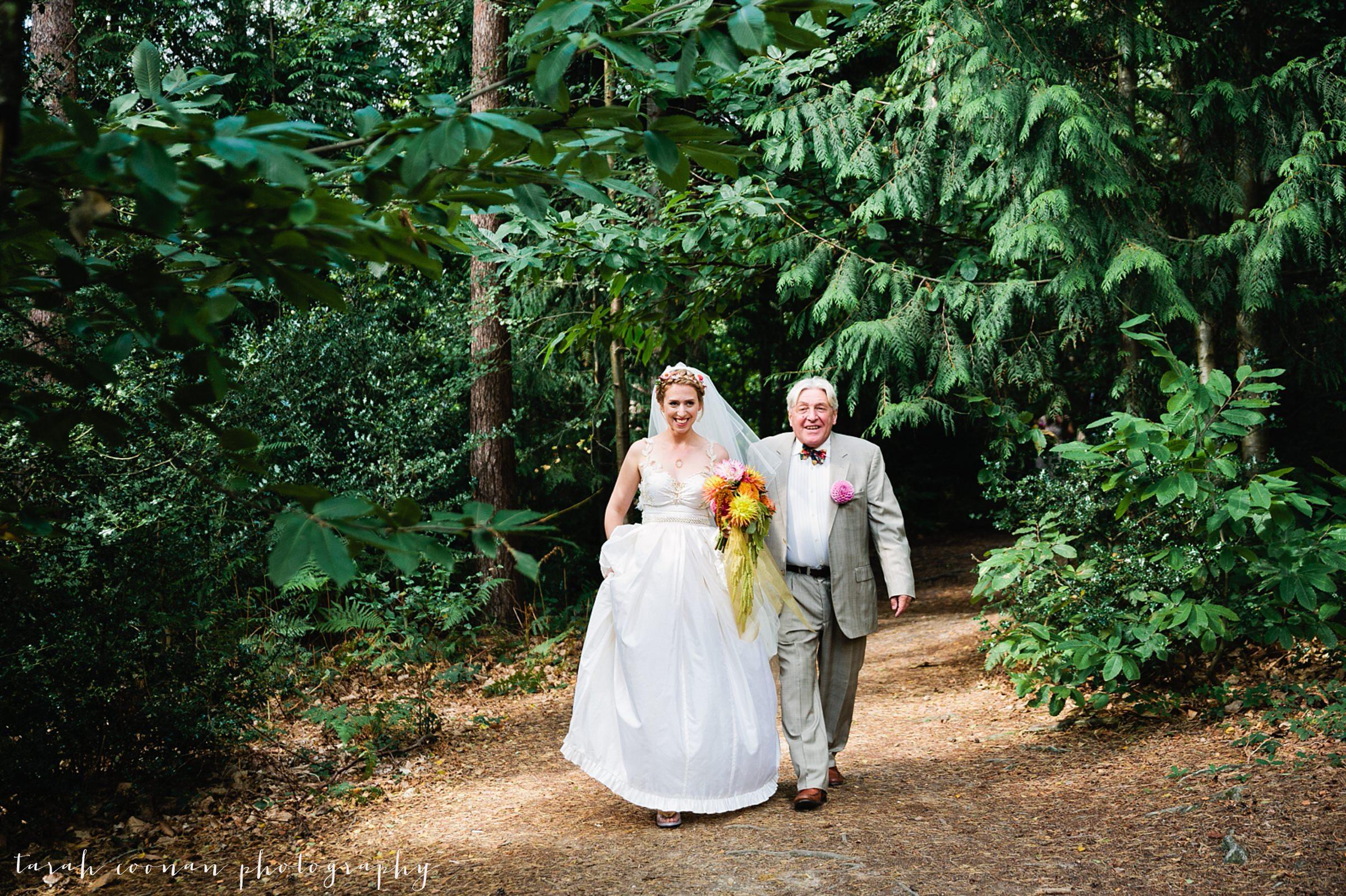 wedding in a wood