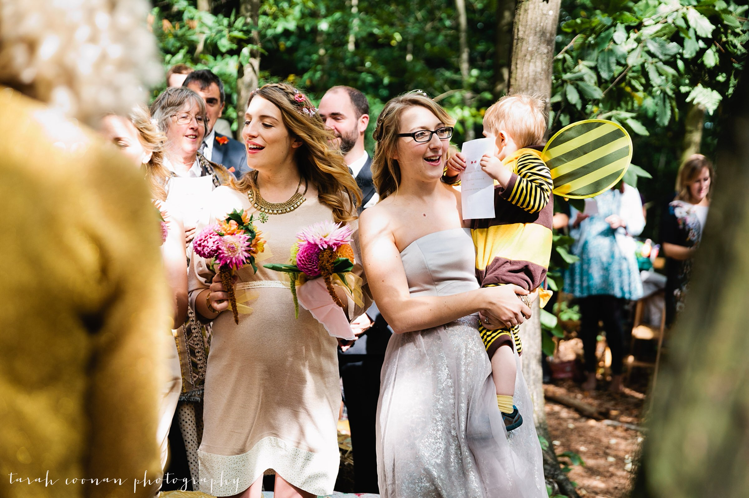 mismatching bridesmaid dresses