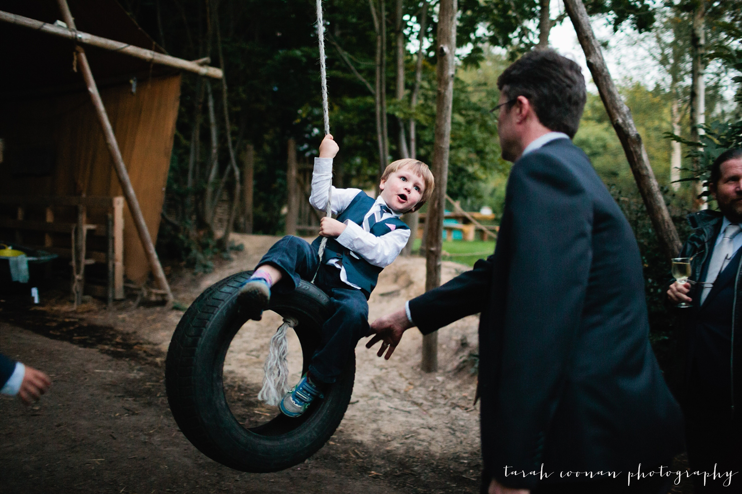 wedding tyre swing