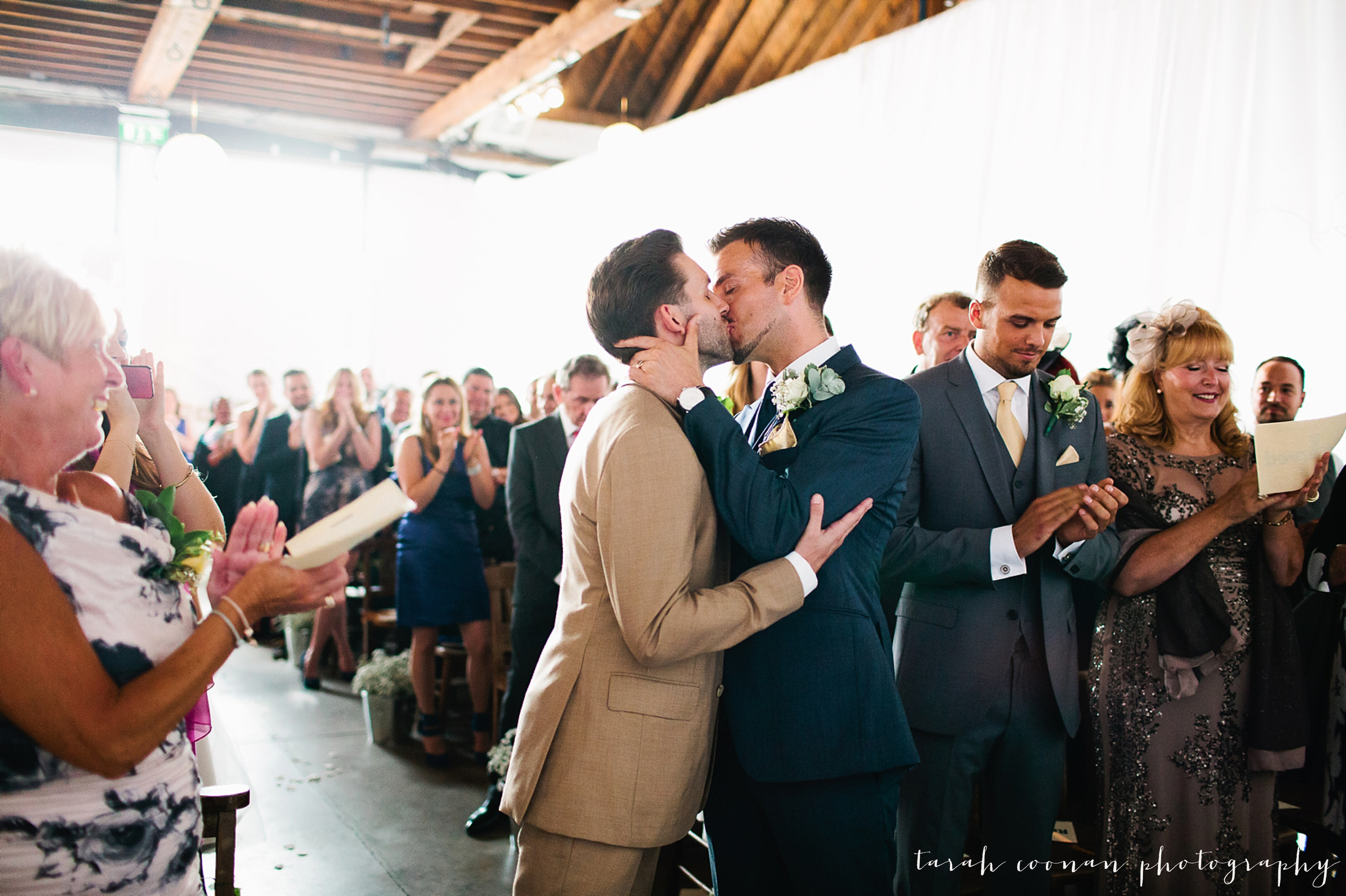 gay wedding kiss