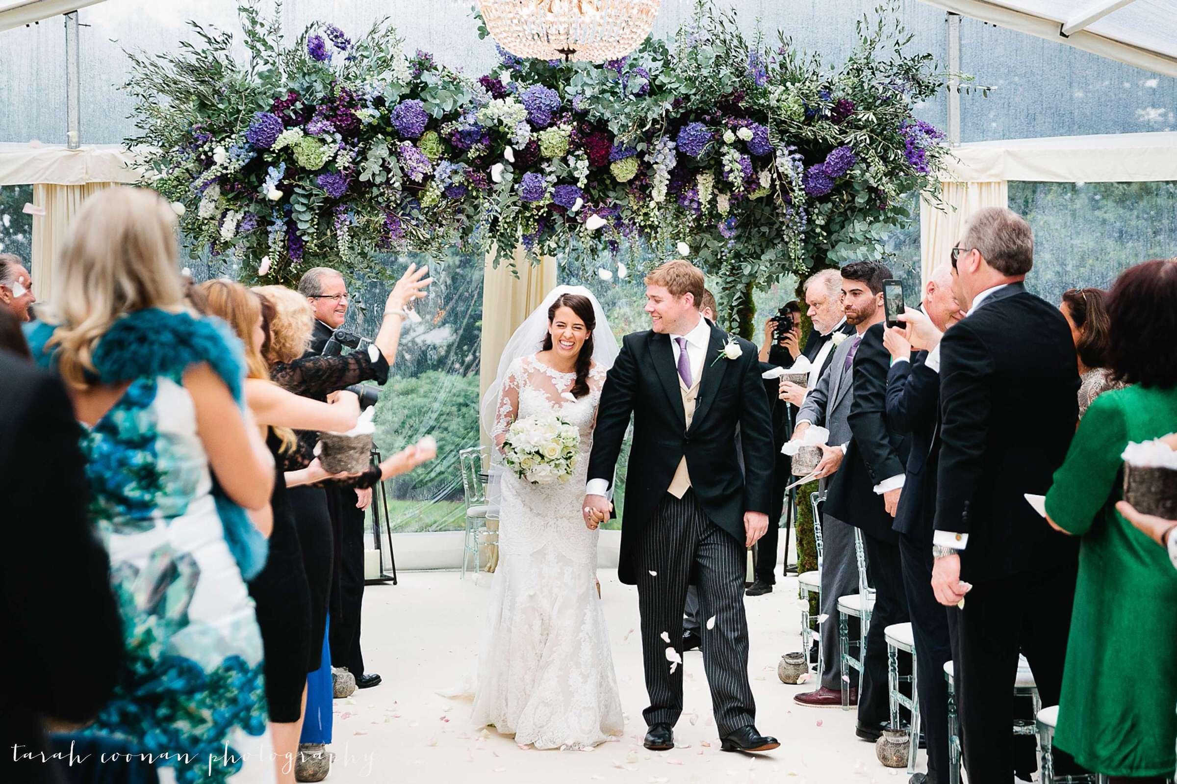 wedding flower canopy
